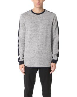 Crew Sweater With Sleeve Panel