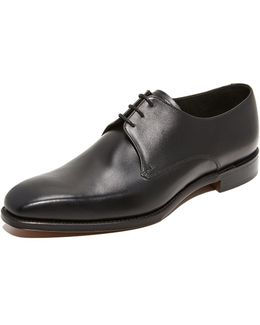 Cornwall Black Leather Derbies