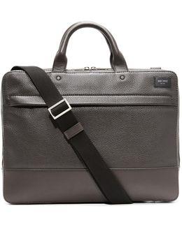 Pebbled Leather Slim Briefcase