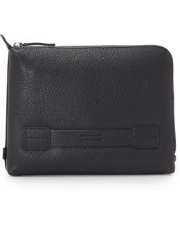 Pebbled Leather Warren Pouch