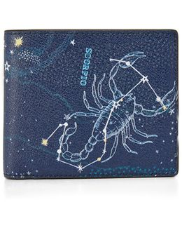 Scorpio Leather Astrology Billfold