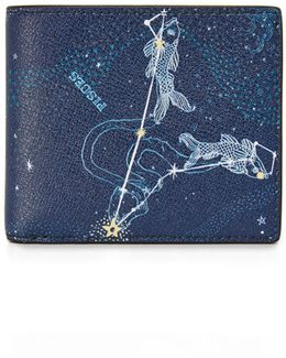 Pisces Leather Astrology Billfold