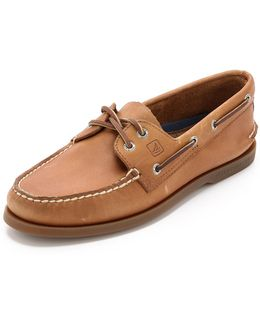 A/o Classic Boat Shoes On Brown Sole