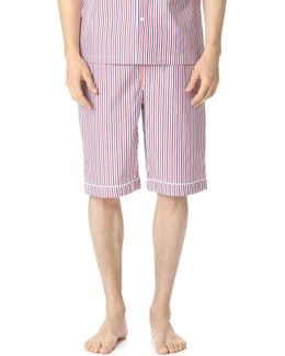Scully Thin Multistripe Pajama Shorts
