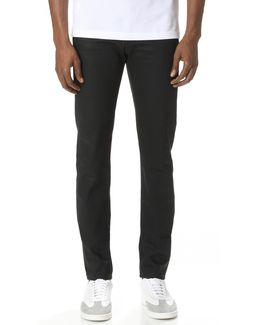Super Skinny Guy Solid Black Selvedge Jeans
