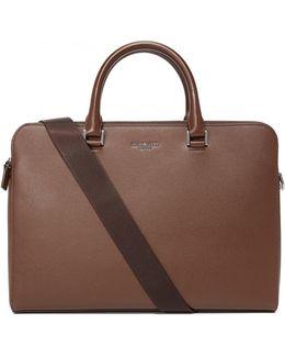 Harrison Leather Medium Double Zip Briefcase