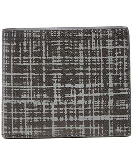 Harrison Brushed Grid Leather Billfold