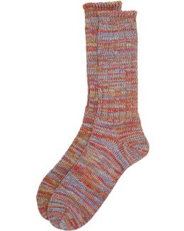 5 Color Mix Crew Socks