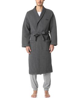 Quilted Jacquard Shawl Collar Robe