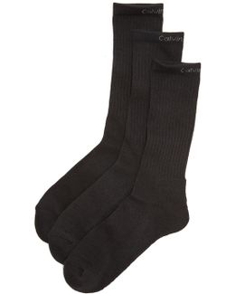 3 Pack Athletic Crew Socks