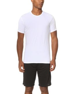 Liquid Stretch Short Sleeve Untuckable Crew Tee