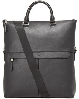 Odin Leather Fold Over Tote