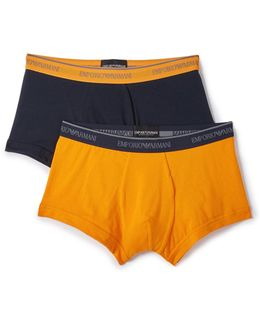 2 Pack Stretch Cotton Trunks