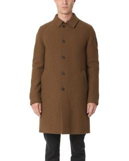 Boiled Wool Raglan Coat