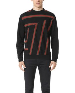 Long Sleeve Striped Crew Neck