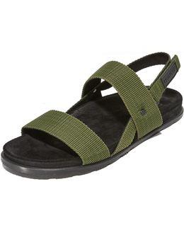 Double Strap Webbing Sandals