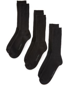 3 Pack Casual Knit Crew Socks