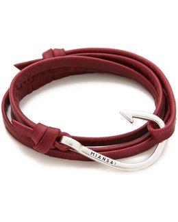 Hooked Leather Wrap Bracelet