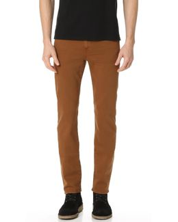 Slimmy Slim Straight Luxe Performance Garment Dye Jeans