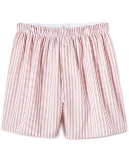Woven English Stripe Boxer Shorts