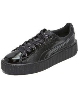 Fenty By Rihanna Mens Cracked Leather Creeper Sneaker