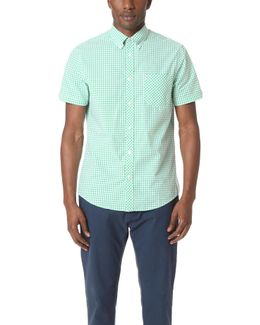 Short Sleeve Core Gingham Shirt
