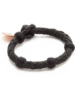Round Woven Leather Bracelet