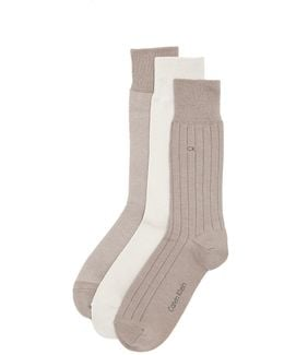 3 Pack Birdseye Multi Pack Crew Socks