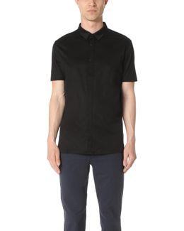 Short Sleeve Shirt With Hidden Placket