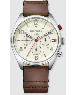 Corbin Leather Watch