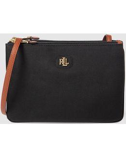 Bainbridge Black Messenger Bag With An Adjustable Strap