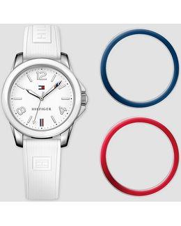 Laurel Watch With Interchangeable Bevel