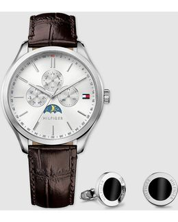 1770014 Leather Multi-function Watch