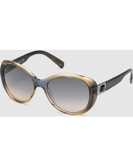 Grey Cat-eye Sunglasses