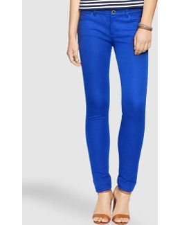 Blue Skinny Trousers