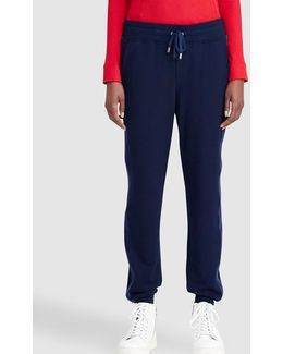 Navy Blue Flowing Trousers