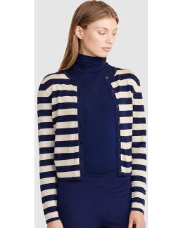 Striped Metallic Cardigan