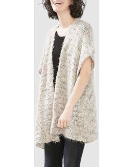 Knit Off-white Poncho
