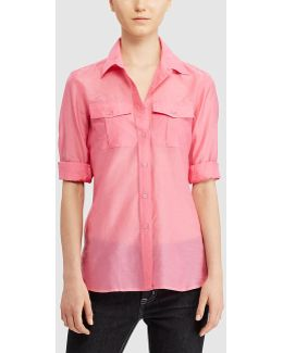 Pink Shirt With Two Pockets