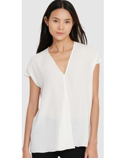 White Fluid Blouse