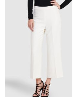 Crepe Wide-leg High-rise Pant