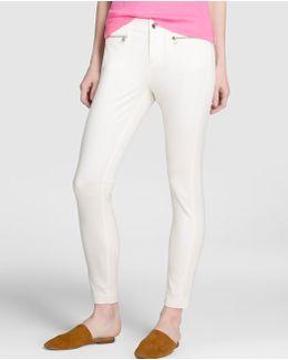 Ecru Skinny Trousers
