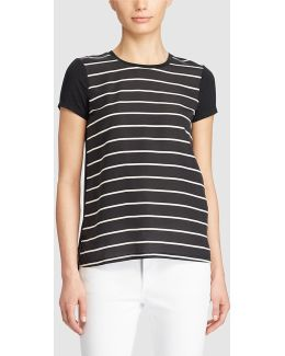 Short Sleeve Stripe Print T-shirt