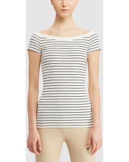 Short Sleeve Stripe Print T-shirt