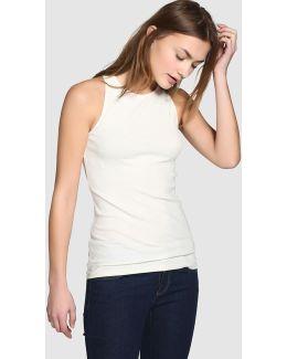 Sleeveless Crewneck T-shirt