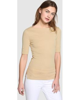 Green Boatneck T-shirt