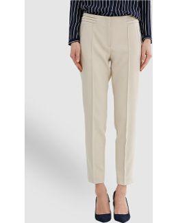 Ecru Straight Trousers