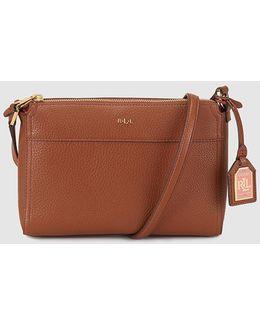Wo Brown Messenger Bag With Zip