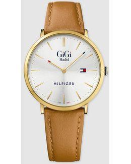 Gigi Slim Leather Watch