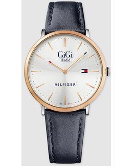 Gigi Slim Blue Watch
